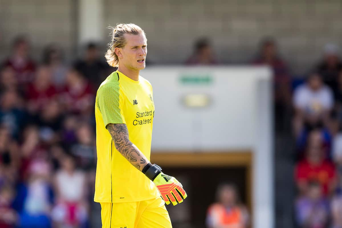 CHESTER, ENGLAND - Saturday, July 7, 2018: Liverpool's goalkeeper Loris Karius during a preseason friendly match between Chester FC and Liverpool FC at the Deva Stadium. (Pic by Paul Greenwood/Propaganda)
