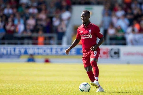 CHESTER, ENGLAND - Saturday, July 7, 2018: Liverpool's Naby Keita during a preseason friendly match between Chester FC and Liverpool FC at the Deva Stadium. (Pic by Paul Greenwood/Propaganda)