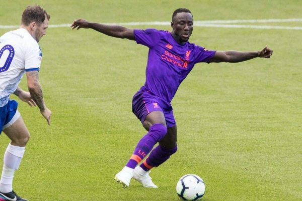 BIRKENHEAD, ENGLAND - Tuesday, July 10, 2018: Liverpool's Naby Keita during a preseason friendly match between Tranmere Rovers FC and Liverpool FC at Prenton Park. (Pic by Paul Greenwood/Propaganda)