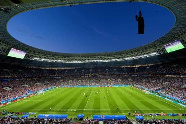 MOSCOW, RUSSIA - Wednesday, July 11, 2018: A general view during the FIFA World Cup Russia 2018 Semi-Final match between Croatia and England at the Luzhniki Stadium. (Pic by David Rawcliffe/Propaganda)