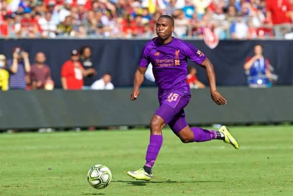 CHARLOTTE, USA - Sunday, July 22, 2018: Liverpool's Daniel Sturridge during a preseason International Champions Cup match between Borussia Dortmund and Liverpool FC at the Bank of America Stadium. (Pic by David Rawcliffe/Propaganda)