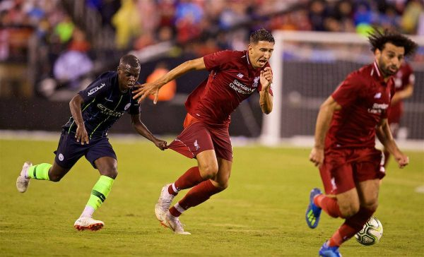 NEW JERSEY, USA - Wednesday, July 25, 2018: Liverpool's Marko Grujic during a preseason International Champions Cup match between Manchester City FC and Liverpool FC at the Met Life Stadium. (Pic by David Rawcliffe/Propaganda)