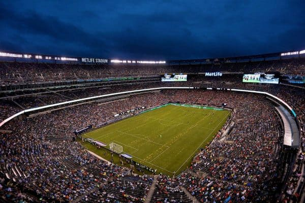 NEW JERSEY, USA - Wednesday, July 25, 2018: A general view of the MetLife Stadium as Liverpool take on Manchester City during a preseason International Champions Cup match. (Pic by David Rawcliffe/Propaganda)