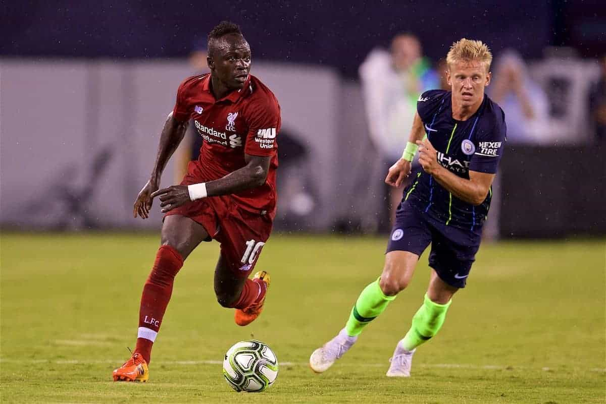 NEW JERSEY, USA - Wednesday, July 25, 2018: Liverpool's Sadio Mane during a preseason International Champions Cup match between Manchester City FC and Liverpool FC at the Met Life Stadium. (Pic by David Rawcliffe/Propaganda)