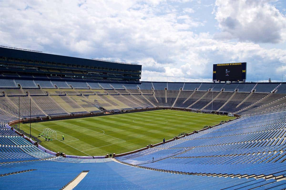 ANN ARBOR, USA - Friday, July 27, 2018: A general view of the Big House before a preseason International Champions Cup match between Manchester United FC and Liverpool FC at the Michigan Stadium. (Pic by David Rawcliffe/Propaganda)