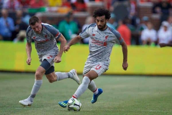 ANN ARBOR, USA - Saturday, July 28, 2018: Liverpool's Mohamed Salah during the preseason International Champions Cup match between Manchester United and Liverpool FC at the Michigan Stadium. (Pic by David Rawcliffe/Propaganda)