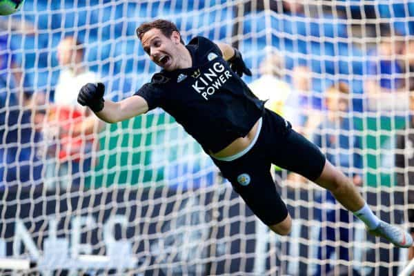 LEICESTER, ENGLAND - Saturday, September 1, 2018: Leicester City's goalkeeper Danny Ward during the pre-match warm-up before the FA Premier League match between Leicester City and Liverpool at the King Power Stadium. (Pic by David Rawcliffe/Propaganda)