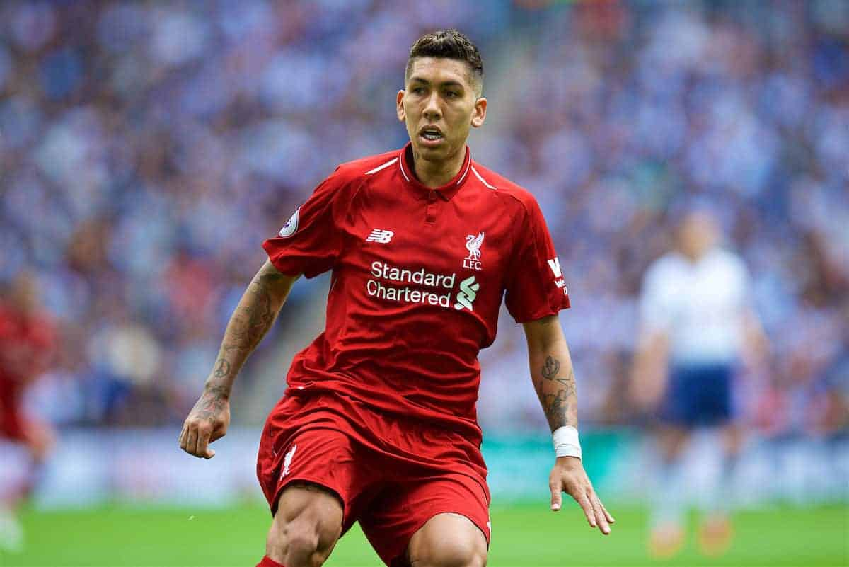 LONDON, ENGLAND - Saturday, September 15, 2018: Liverpool's Roberto Firmino during the FA Premier League match between Tottenham Hotspur FC and Liverpool FC at Wembley Stadium. (Pic by David Rawcliffe/Propaganda)