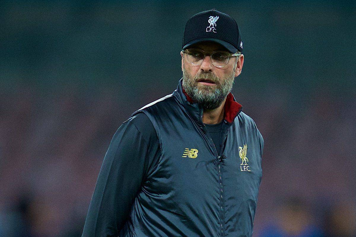 NAPLES, ITALY - Wednesday, October 3, 2018: Liverpool's manager J¸rgen Klopp during the pre-match warm-up before the UEFA Champions League Group C match between S.S.C. Napoli and Liverpool FC at Stadio San Paolo. (Pic by David Rawcliffe/Propaganda)
