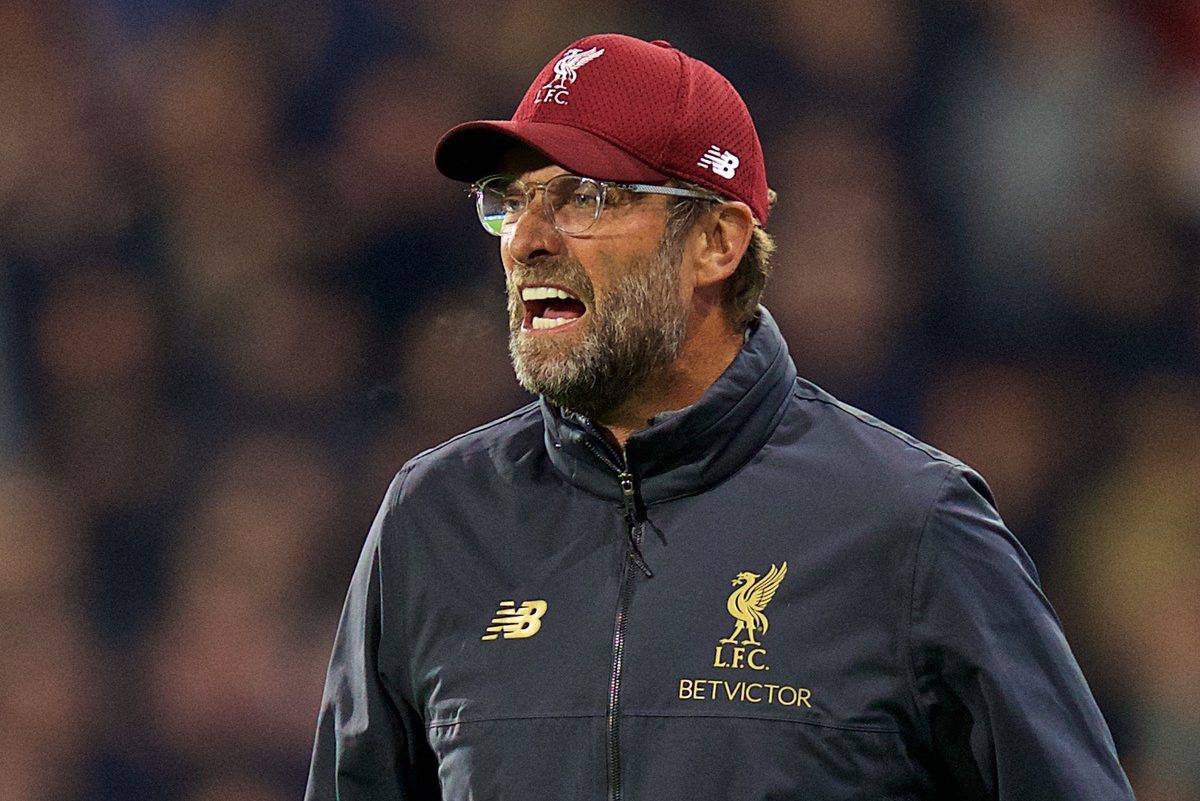 HUDDERSFIELD, ENGLAND - Saturday, October 20, 2018: Liverpool's manager J¸rgen Klopp during the FA Premier League match between Huddersfield Town FC and Liverpool FC at Kirklees Stadium. (Pic by David Rawcliffe/Propaganda)