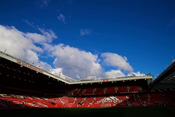 A general view of Old Trafford before the FA Premier League match between Manchester United FC and Everton FC at Old Trafford. (Pic by David Rawcliffe/Propaganda)