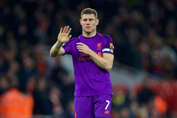 LONDON, ENGLAND - Saturday, November 3, 2018: Liverpool's James Milner after the FA Premier League match between Arsenal FC and Liverpool FC at Emirates Stadium. (Pic by David Rawcliffe/Propaganda)