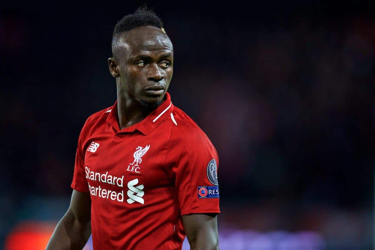 PARIS, FRANCE - Wednesday, November 28, 2018: Liverpool's Sadio Mane during the UEFA Champions League Group C match between Paris Saint-Germain and Liverpool FC at Parc des Princes. (Pic by David Rawcliffe/Propaganda)