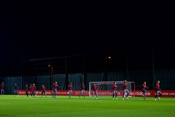 LIVERPOOL, ENGLAND - Monday, December 10, 2018: Liverpool players during a training session at Melwood Training Ground ahead of the UEFA Champions League Group C match between Liverpool FC and SSC Napoli. (Pic by David Rawcliffe/Propaganda)