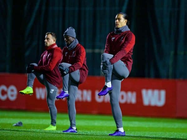 LIVERPOOL, ENGLAND - Monday, December 10, 2018: Liverpool's Virgil van Dijk during a training session at Melwood Training Ground ahead of the UEFA Champions League Group C match between Liverpool FC and SSC Napoli. (Pic by David Rawcliffe/Propaganda)