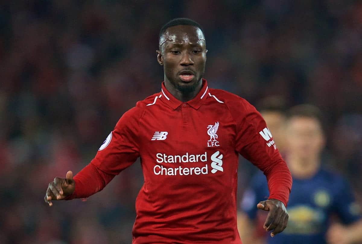 LIVERPOOL, ENGLAND - Sunday, December 16, 2018: Liverpool's Naby Keita during the FA Premier League match between Liverpool FC and Manchester United FC at Anfield. (Pic by David Rawcliffe/Propaganda)