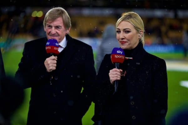 WOLVERHAMPTON, ENGLAND - Friday, December 21, 2018: Kelly Cates with her father Liverpool's non-executive director Kenny Dalglish before the FA Premier League match between Wolverhampton Wanderers FC and Liverpool FC at Molineux Stadium. (Pic by David Rawcliffe/Propaganda)