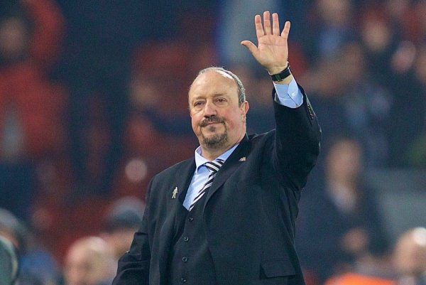 LIVERPOOL, ENGLAND - Boxing Day, Wednesday, December 26, 2018: Newcastle United's manager Rafael Benitez waves as the Liverpool supporters sing his name after during the FA Premier League match between Liverpool FC and Newcastle United FC at Anfield. Liverpool won 4-0. (Pic by David Rawcliffe/Propaganda)