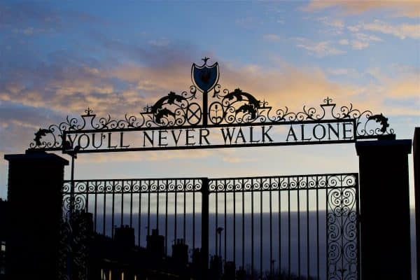 Shankly Gates, Anfield, general matchday. (Pic by David Rawcliffe/Propaganda)