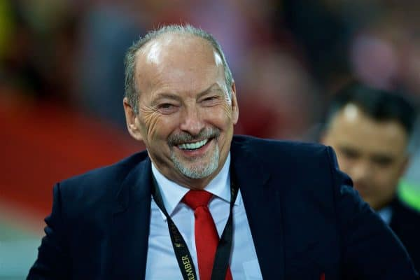 Liverpool's chief executive officer Peter Moore before the FA Premier League match between Liverpool FC and Arsenal FC at Anfield. (Pic by David Rawcliffe/Propaganda)