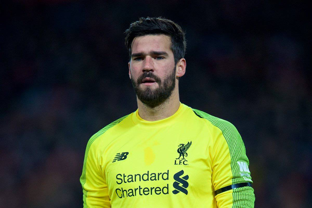 LIVERPOOL, ENGLAND - Saturday, December 29, 2018: Liverpool's goalkeeper Alisson Becker during the FA Premier League match between Liverpool FC and Arsenal FC at Anfield. (Pic by David Rawcliffe/Propaganda)
