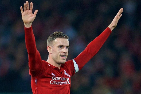 LIVERPOOL, ENGLAND - Saturday, December 29, 2018: Liverpool's captain Jordan Henderson during the FA Premier League match between Liverpool FC and Arsenal FC at Anfield. (Pic by David Rawcliffe/Propaganda)