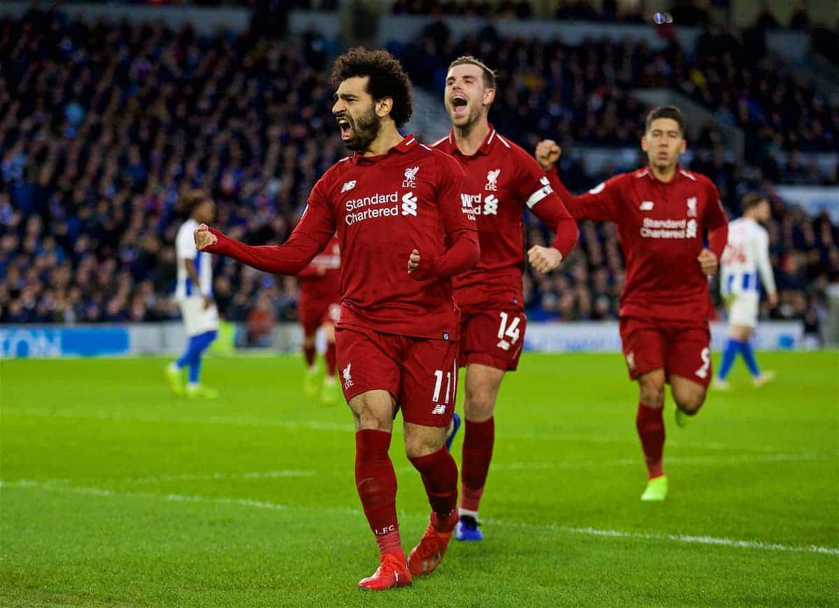 Brighton 0-1 Liverpool - Salah penalty gets Reds back to ...