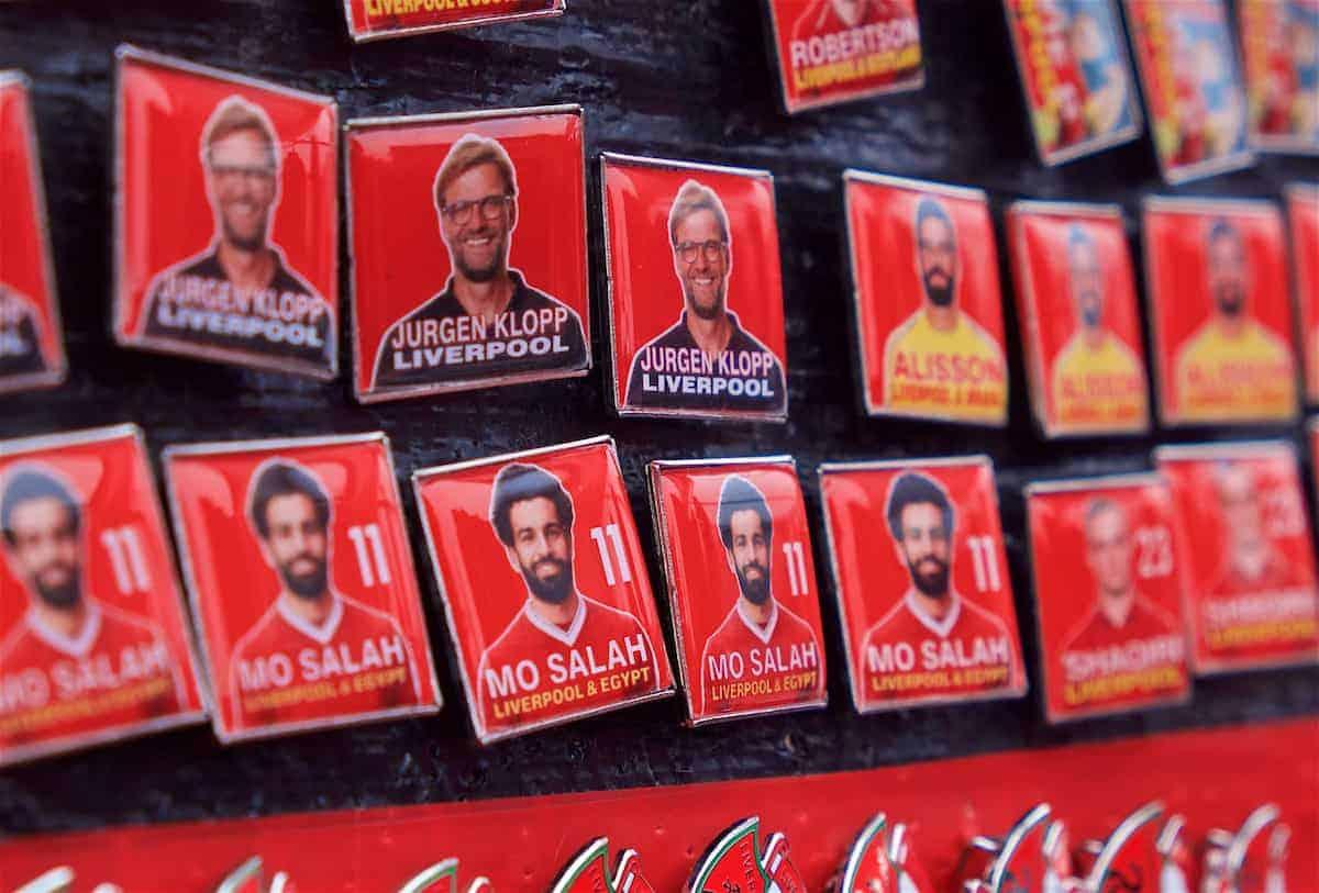 Badges, Anfield, general, matchday (Pic by David Rawcliffe/Propaganda)
