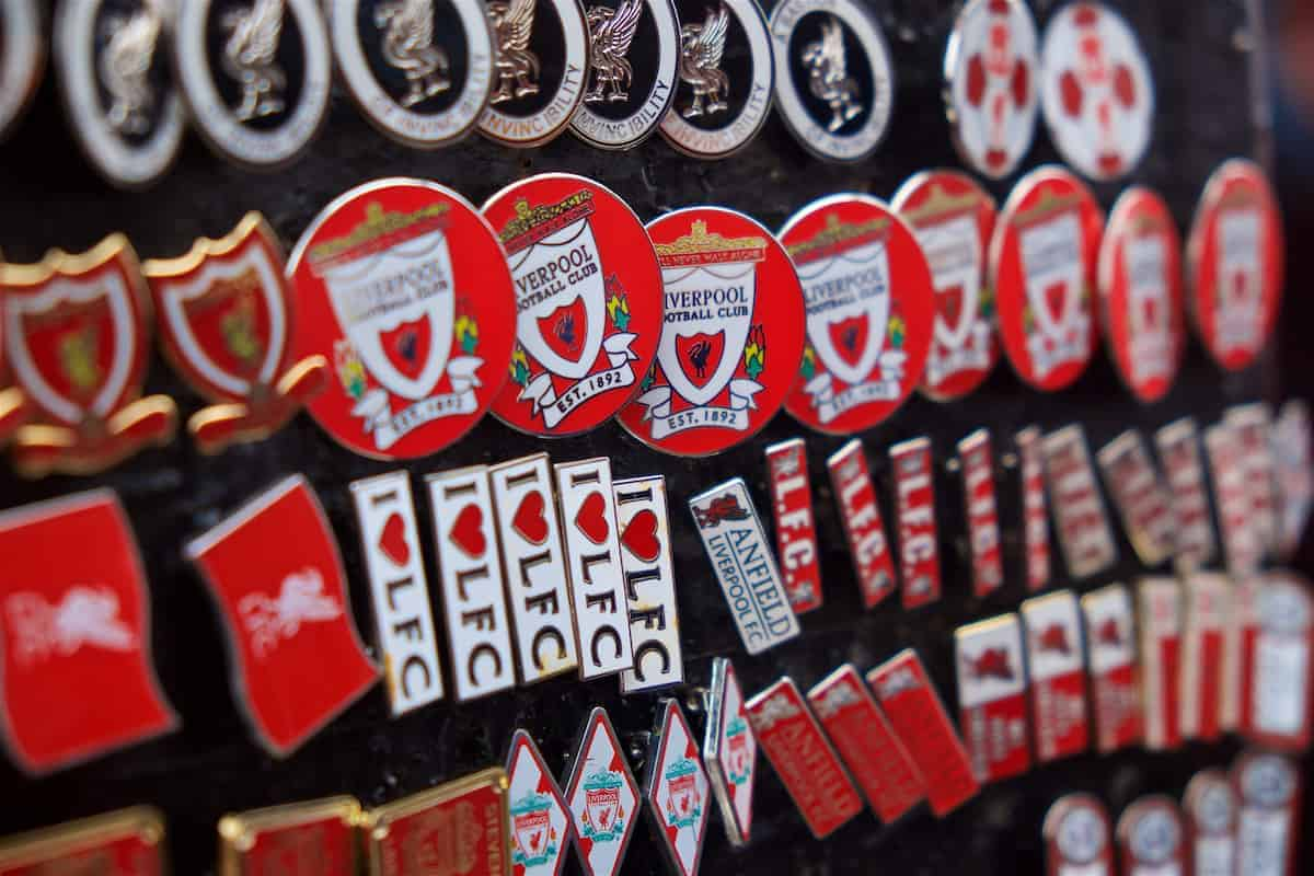 Badges, Anfield, general, matchday (Pic by David Rawcliffe/Propaganda)