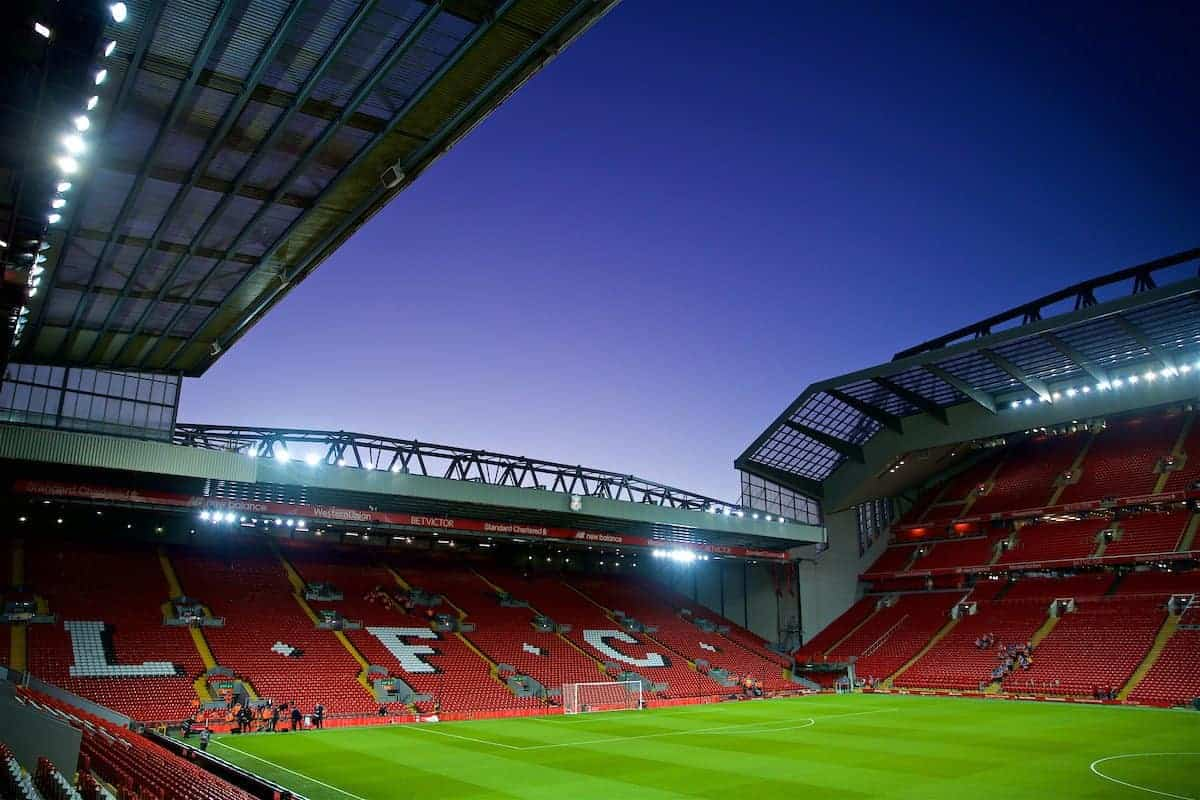 A general view of Liverpool's Anfield stadium / Kop (Pic by David Rawcliffe/Propaganda)