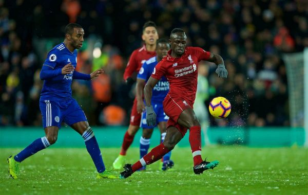 LIVERPOOL, ENGLAND - Wednesday, January 30, 2019: Liverpool's Sadio Mane during the FA Premier League match between Liverpool FC and Leicester City FC at Anfield. (Pic by David Rawcliffe/Propaganda)