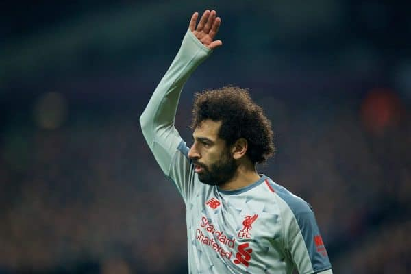 LONDON, ENGLAND - Monday, February 4, 2019: Liverpool's Mohamed Salah during the FA Premier League match between West Ham United FC and Liverpool FC at the London Stadium. (Pic by David Rawcliffe/Propaganda)