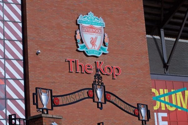 Liverpool The Kop Paisley Gates, Anfield, general, matchday (Pic by David Rawcliffe/Propaganda)