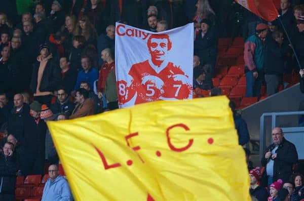Liverpool supporters' banner of Ian Callaghan - Anfield, general, matchday (Pic by David Rawcliffe/Propaganda)