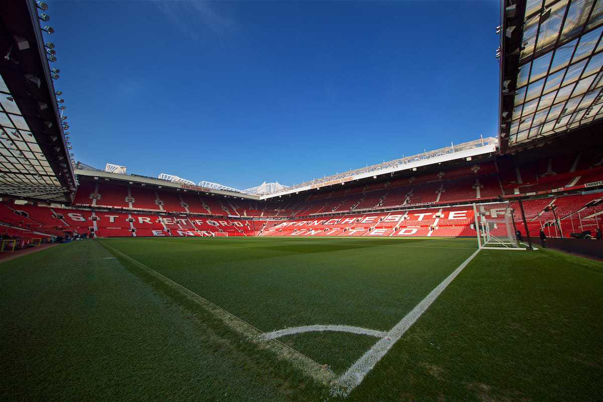 MANCHESTER, ENGLAND - Sunday, February 24, 2019: A general view of Manchester United's Old Trafford stadium before the FA Premier League match between Manchester United FC and Liverpool FC. (Pic by David Rawcliffe/Propaganda)