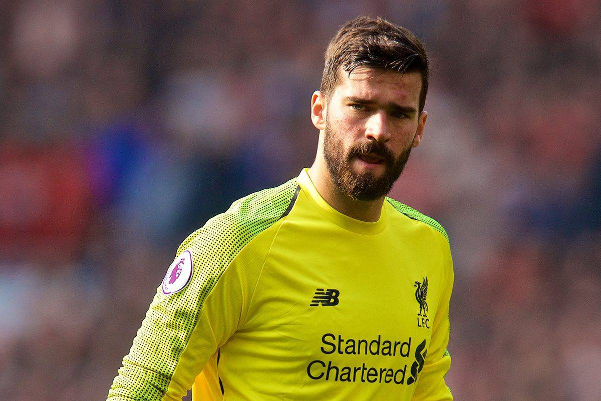 MANCHESTER, ENGLAND - Sunday, February 24, 2019: Liverpool's goalkeeper Alisson Becker during the FA Premier League match between Manchester United FC and Liverpool FC at Old Trafford. (Pic by David Rawcliffe/Propaganda)