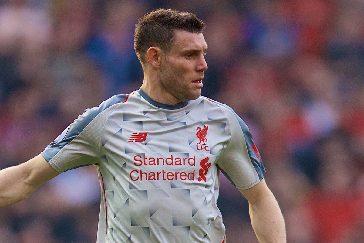 MANCHESTER, ENGLAND - Sunday, February 24, 2019: Liverpool's James Milner during the FA Premier League match between Manchester United FC and Liverpool FC at Old Trafford. (Pic by David Rawcliffe/Propaganda)