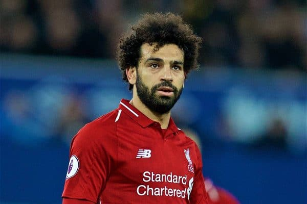 LIVERPOOL, ENGLAND - Sunday, March 3, 2019: Liverpool's Mohamed Salah during the FA Premier League match between Everton FC and Liverpool FC, the 233rd Merseyside Derby, at Goodison Park. (Pic by Paul Greenwood/Propaganda)