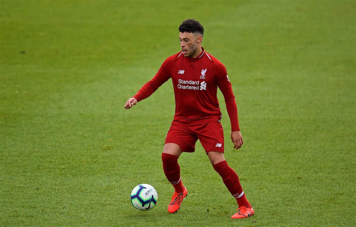 Liverpool's Alex Oxlade-Chamberlain during the FA Premier League 2 Division 1 match between Derby County FC Under-23's and Liverpool FC Under-23's at the Derby County FC Training Centre. (Pic by David Rawcliffe/Propaganda)