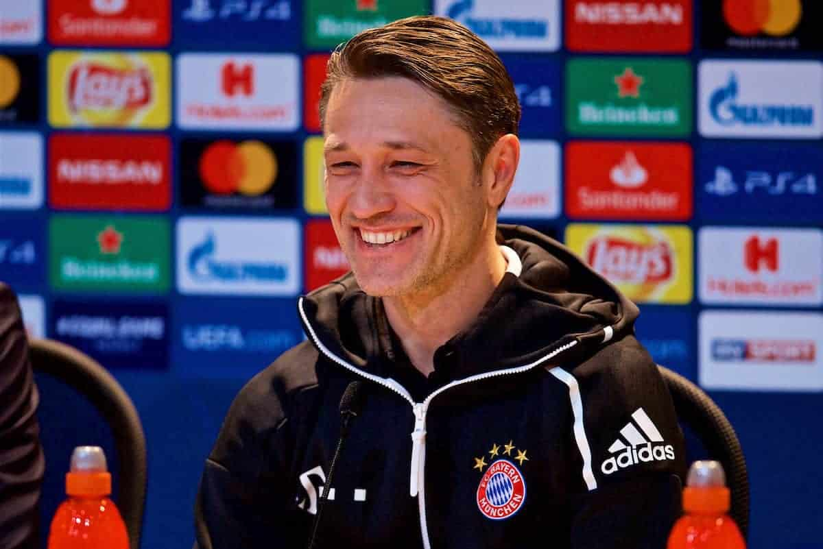 MUNICH, GERMANY - Tuesday, March 12, 2019: FC Bayern Munich's head coach Niko Kova? during a press conference ahead of the UEFA Champions League Round of 16 2nd Leg match between FC Bayern München and Liverpool FC at the Allianz Arena. (Pic by David Rawcliffe/Propaganda)