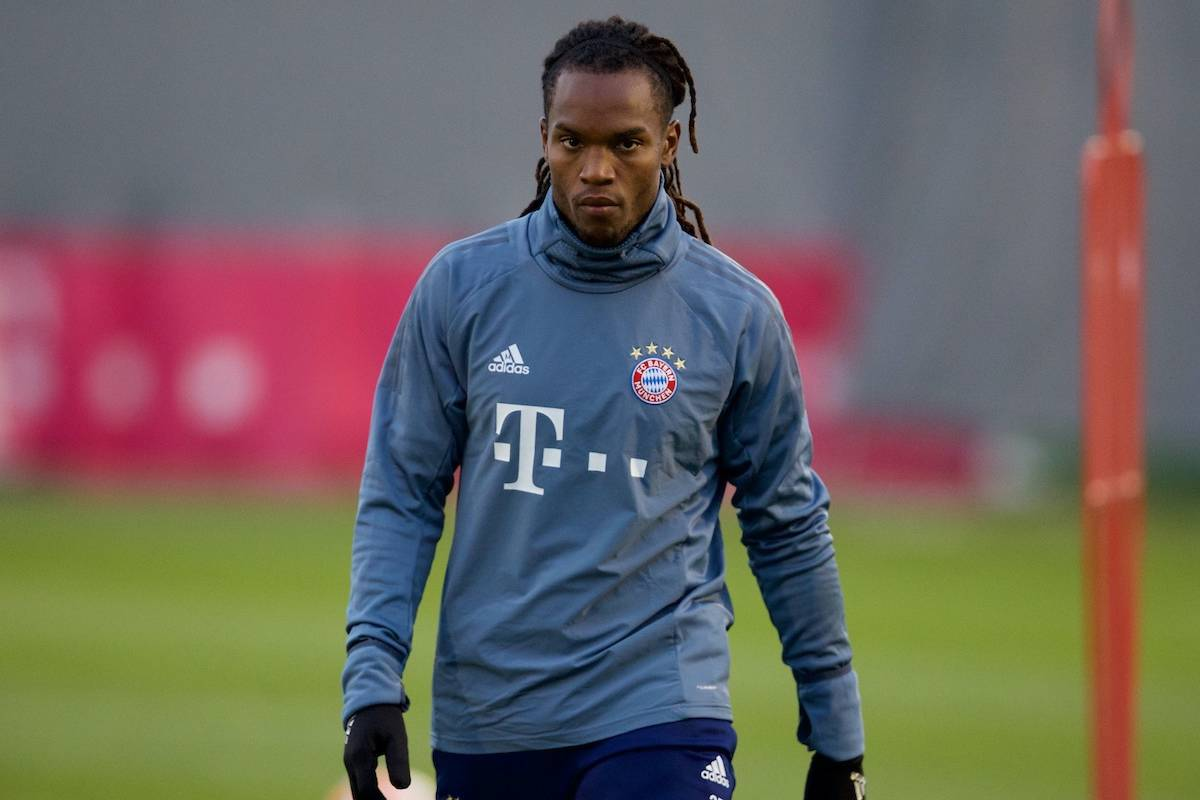 MUNICH, GERMANY - Tuesday, March 12, 2019: FC Bayern Munich's Renato Sanches during a training session ahead of the UEFA Champions League Round of 16 2nd Leg match between FC Bayern München and Liverpool FC at the Bayern Munich Training Centre. (Pic by David Rawcliffe/Propaganda)