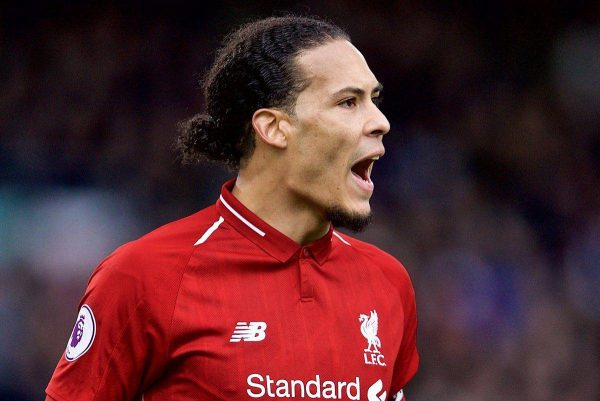 LONDON, ENGLAND - Sunday, March 17, 2019: Liverpool's Virgil van Dijk during the FA Premier League match between Fulham FC and Liverpool FC at Craven Cottage. (Pic by David Rawcliffe/Propaganda)