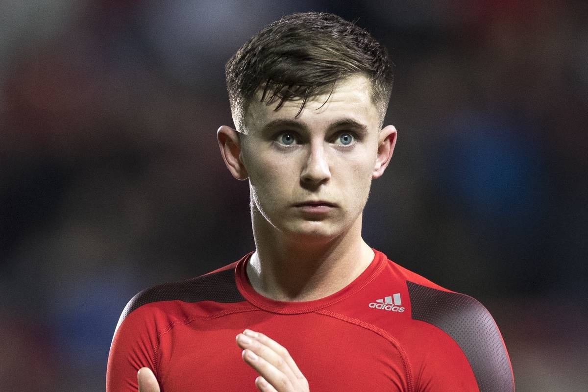 WREXHAM, WALES - Wednesday, March 20, 2019: Wales' goalscorer Ben Woodburn applauds the crowd after the International friendly match between Wales and Trinidad and Tobago at the Racecourse Ground. (Pic by Laura Malkin/Propaganda)