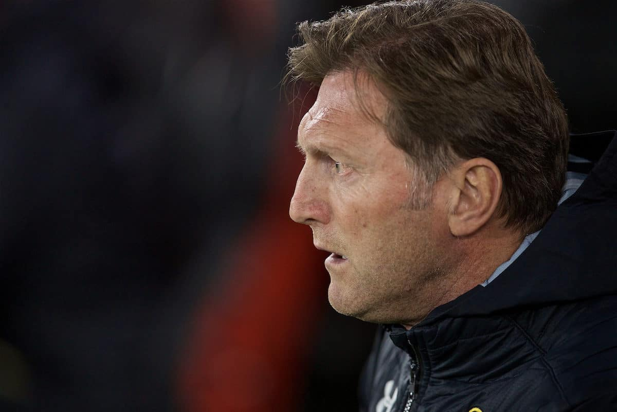 SOUTHAMPTON, ENGLAND - Friday, April 5, 2019: Southampton's manager Ralph Hasenhüttl during the FA Premier League match between Southampton FC and Liverpool FC at the St. Mary's Stadium. (Pic by David Rawcliffe/Propaganda)