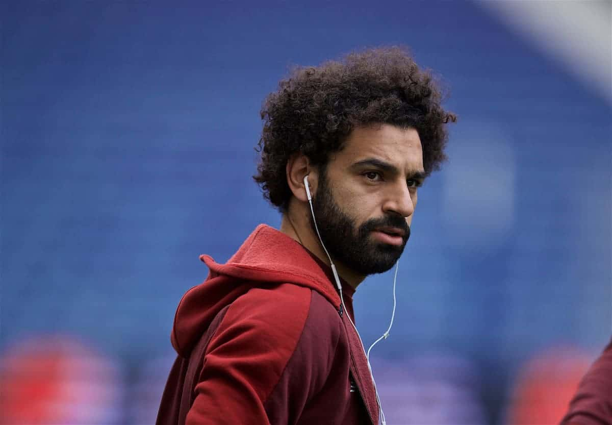 PORTO, PORTUGAL - Tuesday, April 16, 2019': Liverpool's Mohamed Salah during a walk around the pitch ahead of the UEFA Champions League Quarter-Final 2nd Leg match between FC Porto and Liverpool FC at Estádio do Dragão. (Pic by David Rawcliffe/Propaganda)