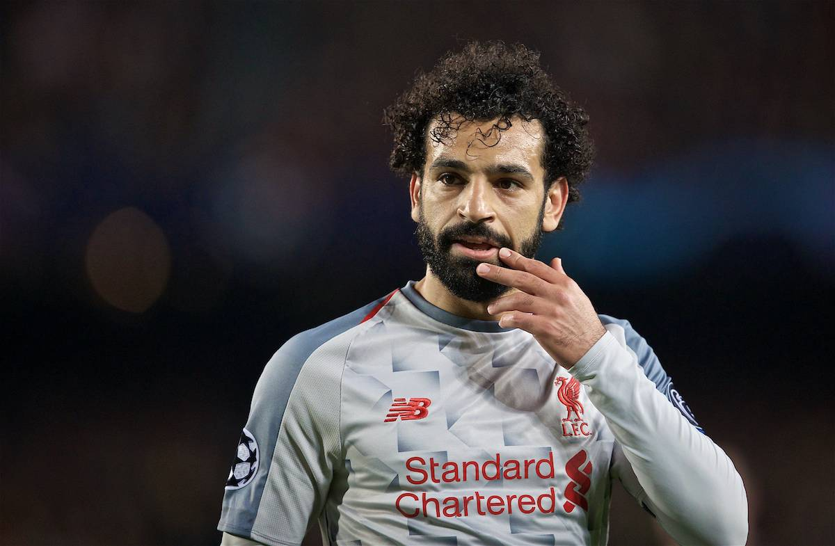 BARCELONA, SPAIN - Wednesday, May 1, 2019: Liverpool's Mohamed Salah during the UEFA Champions League Semi-Final 1st Leg match between FC Barcelona and Liverpool FC at the Camp Nou. (Pic by David Rawcliffe/Propaganda)