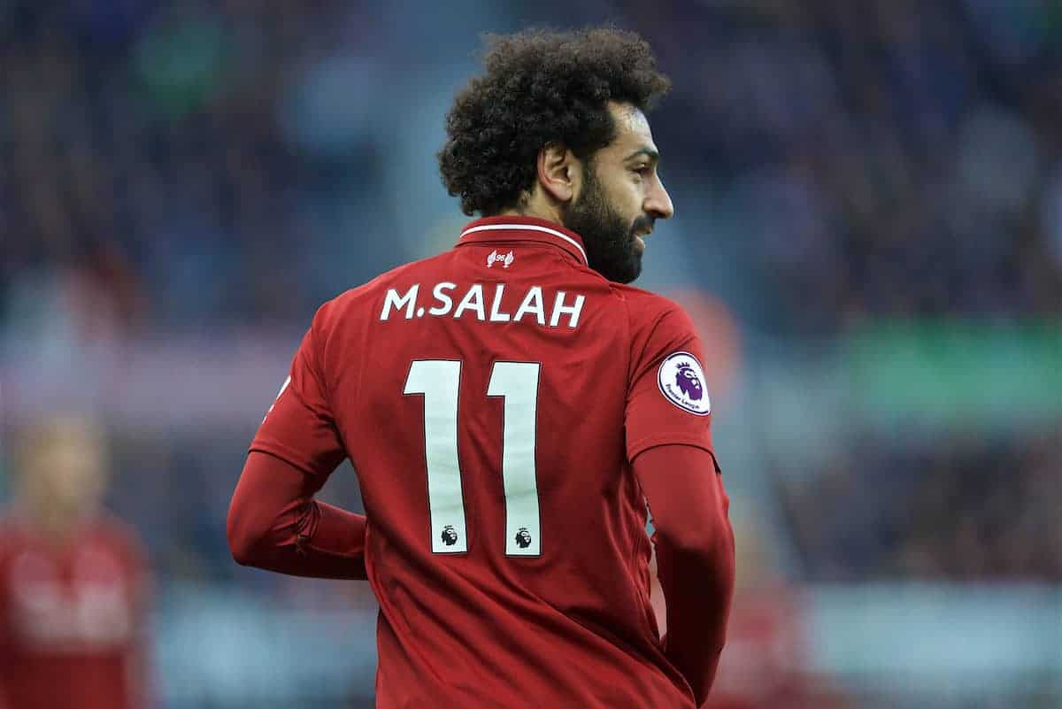 NEWCASTLE-UPON-TYNE, ENGLAND - Saturday, May 4, 2019: Liverpool's Mohamed Salah during the FA Premier League match between Newcastle United FC and Liverpool FC at St. James' Park. (Pic by David Rawcliffe/Propaganda)