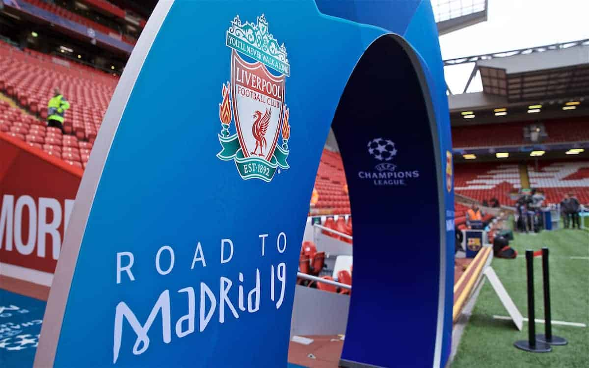 Champions League, crest, Anfield, general (Pic by David Rawcliffe/Propaganda)