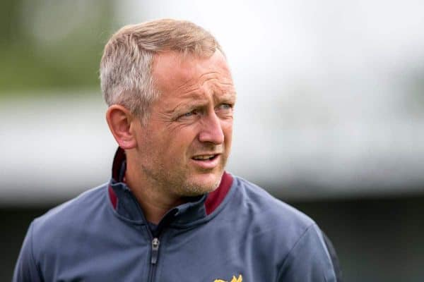Liverpool's Under 23's manager Neil Critchley during a pre-season friendly between Liverpool and Coventry City at the Liberty Way Stadium. (Pic by Paul Greenwood/Propaganda)