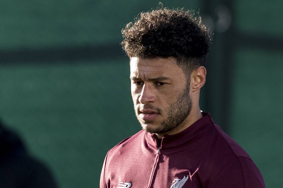 LIVERPOOL, ENGLAND - Monday, February 18, 2019: Liverpool's Alex Oxlade-Chamberlain during a training session at Melwood ahead of the UEFA Champions League Round of 16 1st Leg match between Liverpool FC and FC Bayern M¸nchen. (Pic by Paul Greenwood/Propaganda)